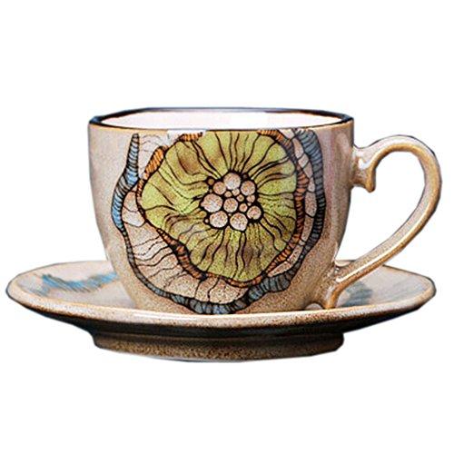 spécial Tasse à café peinte à la main Lotus Mug à café Beige
