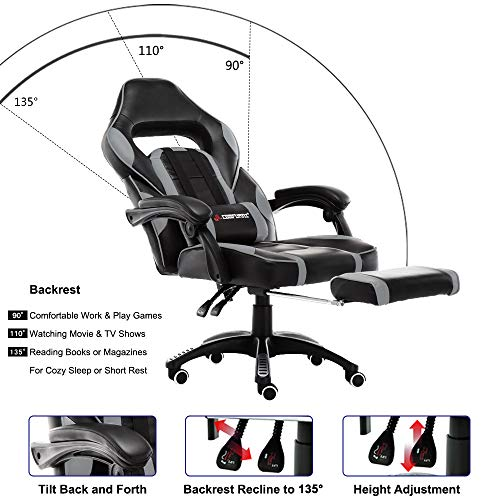 JL Comfurni Gaming Stuhl Bürostuhl Bild 3*
