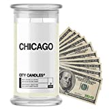 Chicago City Cash Money Candles   $2-$2500 Inside   Guaranteed Rare $2 Bill   Choose from 30+ Scents   21oz Jar   Fresh Cut Roses   Chicago