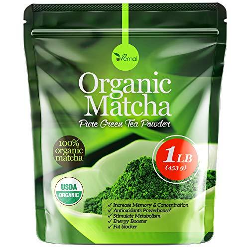 uVernal Matcha Green Tea Powder -100% Pure Matcha for Smoothies and Baking - 1 Lb