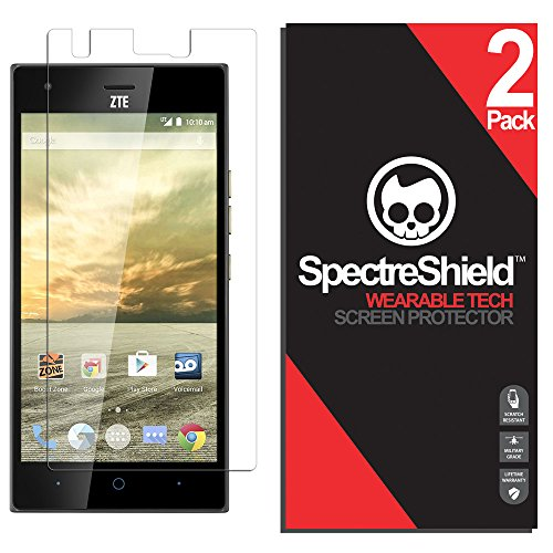 [2-Pack] Spectre Shield Screen Protector for ZTE Warp Elite Case Friendly ZTE Warp Elite Screen Protector Accessory TPU Clear Film