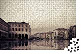 Rompecabezas Para 1000 Piezas,Venecia Italia Canal Retro Edificio Puzzle De Paisaje,Vista De National Geographic Rompecabezas De Madera,Puzzles Regalo De Cumpleaños Para Niños Y Adultos(75*50Cm)