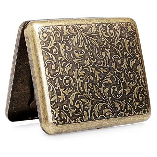 Étui à cigarettes en métal Étui à cigarettes en métal pour 20 cigarettes, étui à cigarettes antique avec gravure, aspect élégant et qualités spéciales