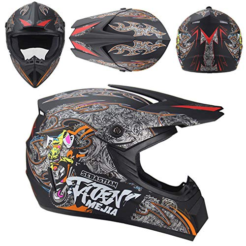 Casco da motocross leggero, maschio e femmina, BMX, casco sportivo da bicicletta, 1, L