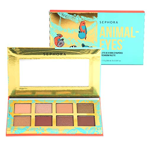 Sephora Animal Eyes Holiday Eyeshadow Palette - Sparkle, Shimmer, Matte Shadows - wildly festive, limited-edition packaging, mini eyeshadow palette perfect holiday