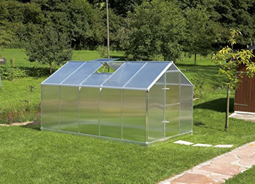 Gartentec Aluminium Gewächshaus Typ F2 - Typ F6 (Typ F5: 8,49 m²)