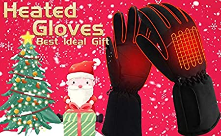 QILOVE Cold Weather Battery Heated Gloves for Men Hand Warmers Extra Warm Gloves