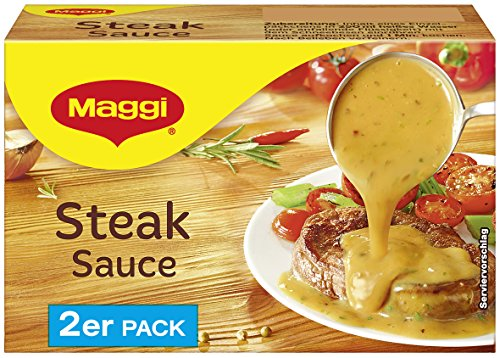 Maggi Steak Sauce, 2er Pack, ergibt 2 x 250 ml, 9er Pack (9 x 500 ml)