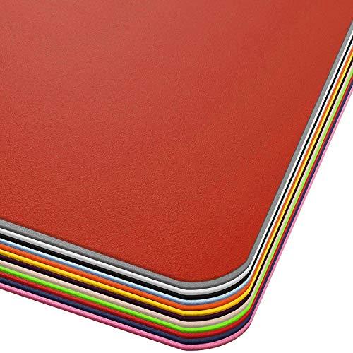 Office Marshal® Bodenschutzmatte in Trendfarben | 120 x 150 cm für Hartböden | ohne schädliche Weichmacher und PVC | Größe und viele Farben zur Auswahl (Rot)