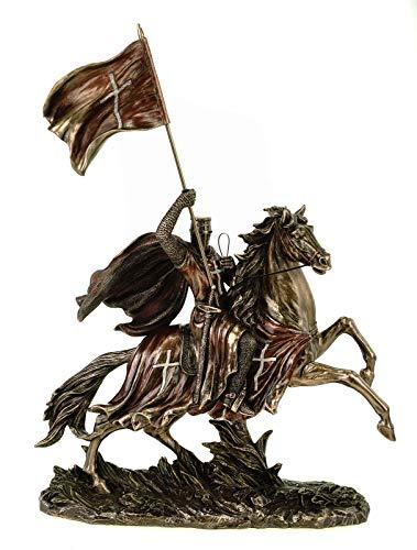 Veronese Tempelritter auf seinem Pferfd mit Flagge 38 cm Figur Ritter Knight Mittelalter