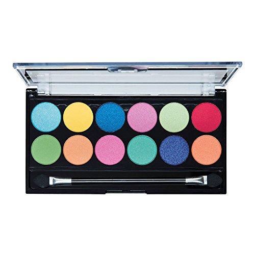 MUA - Eyeshadow Palette - Silent Disco - 12 NEON ACID BRIGHT SHADES by MUA