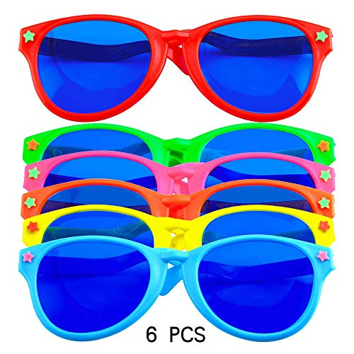 Vientiane Große Party Sonnenbrille 6 Stück, Party Brillen Lustig, Bunt Party Sonnenbrille, Foto Requisiten Fans Karneval Party Supplies, Party Brillen Für Strand Fancy Dress Party Angebot