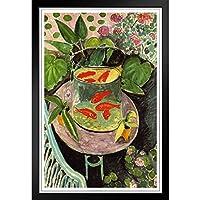 ぶら下げ絵画 - ヨーロッパとアメリカのスタイル壁画 - アンリ・マティス金魚 - 装飾美術の絵画-28x23cm