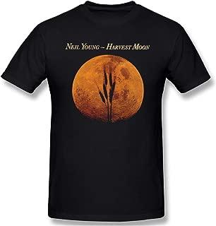 Men's Harvest Moon (Neil Young) Suitable T Shirts Black XL