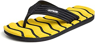 Comfortable/beautiful sandals and slippers Slippers Male Beach Sandals High Elastic Tasteless Massage Flip Flops Men'S Outdoor Large Size Slippers (Color : Yellow)