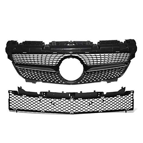 Sport Kühlergrill,Front Kühlergrill For Autozubehör- SLK-Klasse R172 200 250 350 2012-2016 Glossy Black Diamond Style Front-Grill Grille Frontgrill