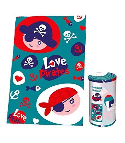 Pirates Pelo Silk Touch de Colección Referencia KD Mantas para Cama Colchas y cubrecamas Textiles del hogar Unisex Adulto, Multicolor (Multicolor), única