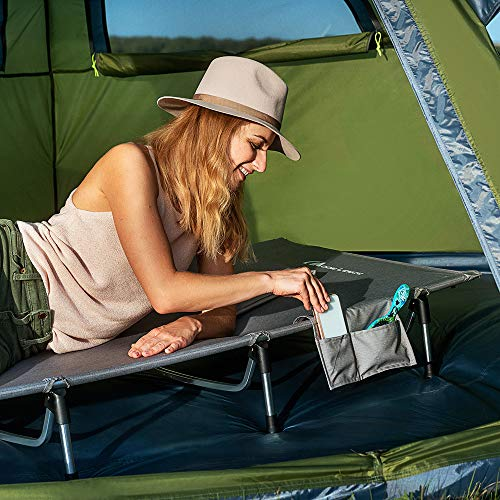 51lddha3F3L - MOON LENCE Folding Camping Cot Outdoor Camping Bed Portable with Carry Bag Camp Cot for Adults for Hiking Backpacking Car Camping Outdoor&Indoor Use