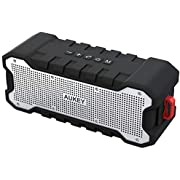 AUKEY Bluetooth Speaker Dual-Driver 30-Hour Battery Life, Waterproof and Shock-Resistant, Enhanced Bass & Boosted Treble Portable Wireless Speakers for Party, Bicycle and Outdoor, Bulit-in Mic for Echo Dot