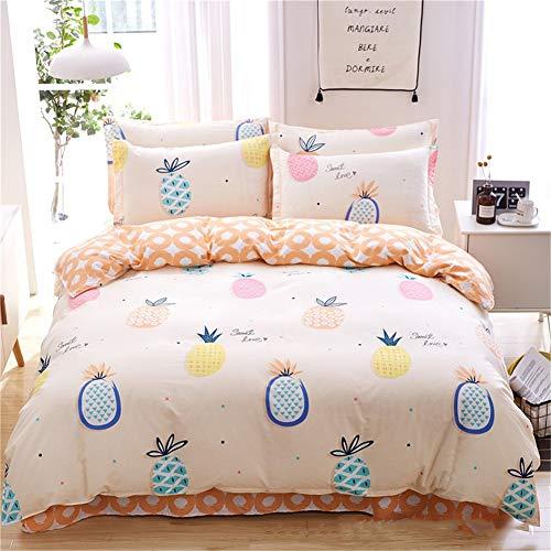 KLLT dekbedovertrek, dubbel, comfortabel, voor kinderen, slaapkamer, beddengoed, 100% katoen, 1 persoon, dekbed, 220 x 240 cm, slaapzak, zacht, eenpersoonsbed met overtrek