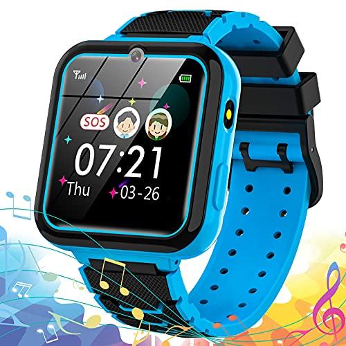 Reloj Inteligente para niño, Smartwatch teléfono para Niños con 7 Juegos SOS Música Despertador Cámara Alta definición Calculadora Grabadora Linterna, Reloj para niños niñas 3-14 Años Regalo
