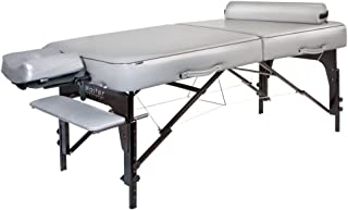 """Master Massage 30"""" Montour Lx Massage Table Package with 3"""" Memory Foam,Dove Grey"""