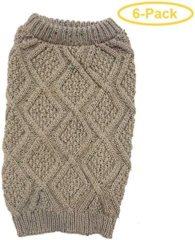 Outdoor Dog Fisherman Dog Sweater Taupe X Large 24 29 Neck to Tail Pack of 6 product image