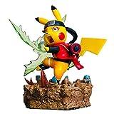 PHY Naruto X Pokemon Pikachu Cosplay Figuras de Personas de Juguete para Niños Uzumaki Naruto Uchiha Sasuke Haruno Sakura Juego Figuras Modelo Estatua Decoración Regalo para Fans Uzumaki Naruto-10cm
