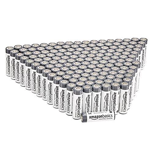 Amazon Basics 150 Pack AA Industrial Alkaline Batteries, 5-Year Shelf Life, Easy to Open Value Pack