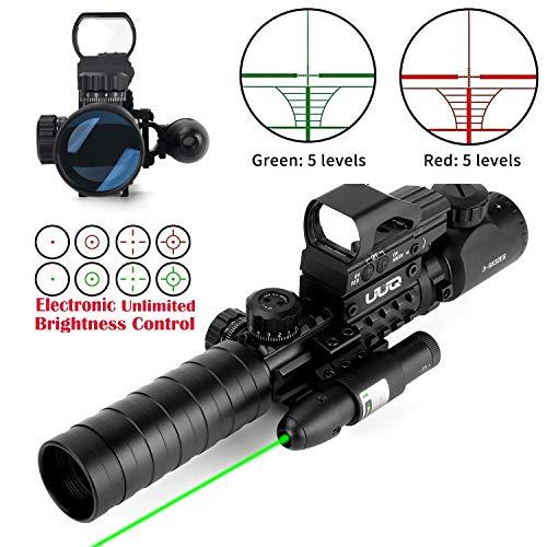 UUQ 3-9X32EG Tactical Rifle Scope Illuminated Red & Green...