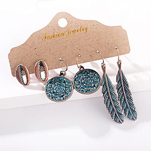 FEARRIN Petite Pendientes Set de Pendientes para Mujer Retro Earring Set3