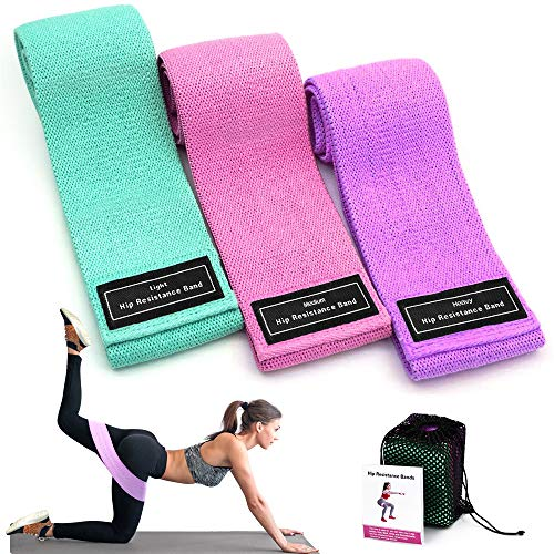 Evershop Resistance Bands Set Women/Men, workout band for Butt and Legs Training, loop exercise bands with 3 Resistance Level, Ideal for Home, Gym, Yoga