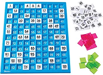 Learning Resources 120 Number Board Tray & Numbered Tiles (Ages 6+)