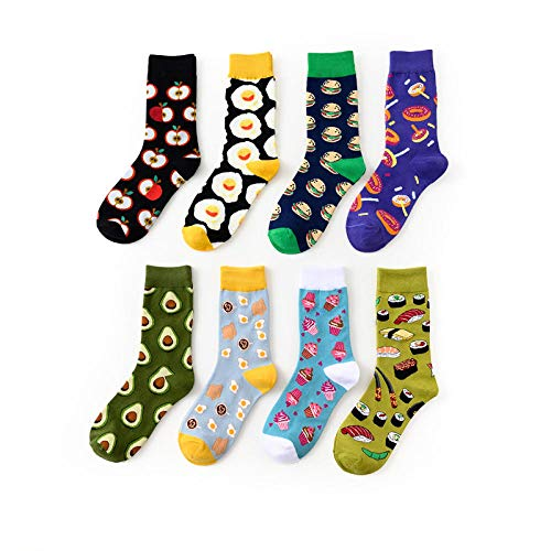 MIWNXM 10 Pares  Cotton Food Desserts Pattern Breathable  Gifts Long Sock Fashion Tube Socks Unisex Harajuku College Style Sock