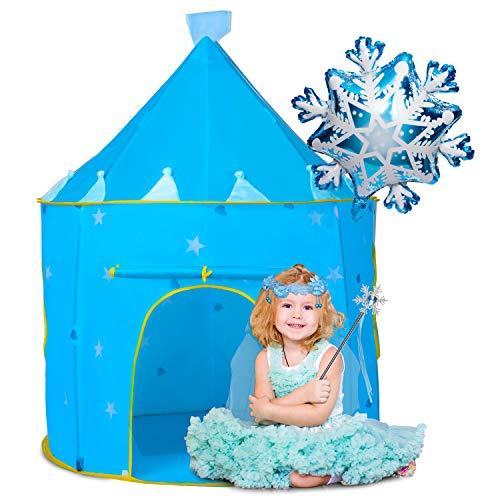 Joyjoz Carpa de Juegos de Princesa, Tienda de Castillo de Frozen, Regalo para Niñas, Carpas Pop Up de Casa de Juegos para Niños, Juguetes de Hadas de Princesa