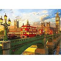 5DDIYダイヤモンド刺繡都市ラインストーン写真ダイヤモンド絵画橋風景クロスステッチモザイク家の装飾