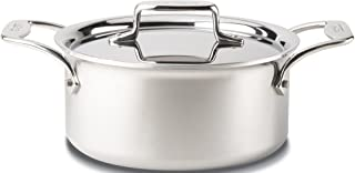 All-Clad BD55303 D5 Brushed 18/10 Stainless Steel 5-Ply Bonded Dishwasher Safe Casserole with Lid and Steamer Cookware, 3-Quart, Silver - 8400000149