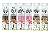 Milk Magic Chocolate and Strawberry Milk Flavoring Straw | Gluten-Free BPA free Non-GMO Low in Sugar All-Natural Flavor Straws | Encourage Milk Drinking with Flavor-Filled Straws - Pack of 6