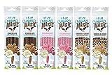 Milk Magic Milk Flavoring Straws Bundle: 2 Chocolate, 2 Strawberry, 2 Cookies & Cream (6 packs total)