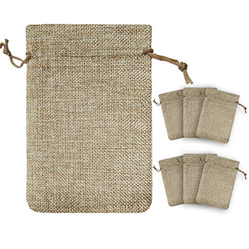 !RAKRISA 25 Pcs 4x6 Inch Burlap Bags With Drawstring | Jute Drawstring Bags for Party Favors, Wedding Party Favor & Gifts