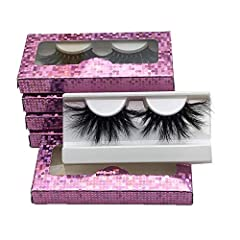 【5 PAIRS 25MM MINK LASHES BULK】: Mikiwi 25MM 3D mink lashes is made of 100% real siberian mink hair shedding from young mink ,which is totally cruelty free product. 【PURE HANDMADE BY SKILLED WORKER】: Mikiwi Lashes are 100% hand made in every step up ...