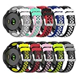 ZSZCXD Compatible for Garmin Vivoactive 4 Band, 22mm Width Silicone Replacement WatchBand Strap Band Wristband for Garmin Vivoactive 4 (10 Colors)