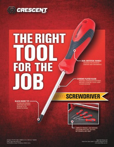 Crescent 7-in-1 Interchangeable Bit Dual Material Screwdriver - CMBD7P