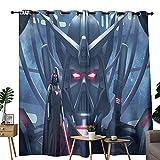 Cortina de ducha Lush Decor Star Wars Darth Vader Pintura artística utilizada para decoración de dormitorio y sala de estar, ajustable mediante deslizamiento de 183 x 243 cm