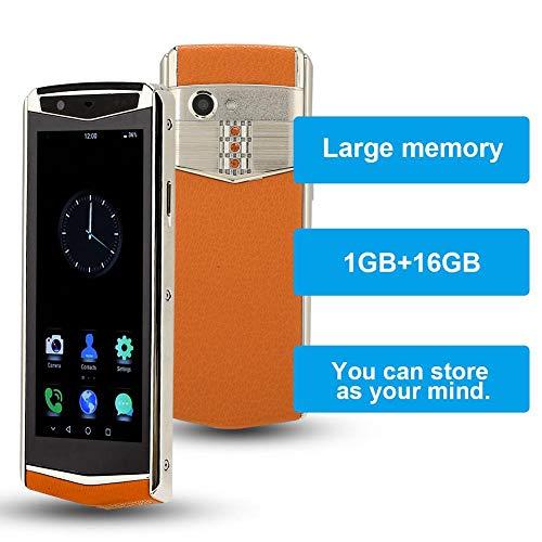 4G/Wifi-mobiel met MTK6737-processor, Bluetooth mobiele telefoon, ondersteuning voor meerdere talen, dubbele kaart dubbele stand-by, 3,5 inch scherm mobiele telefoon 1 GB + 16 GB (Oranje)