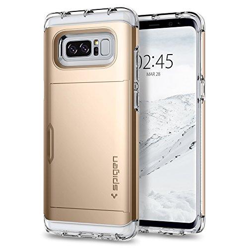 Spigen Samsung Galaxy Note 8 Hülle, [Crystal Wallet] Kartenfach Card Holder Schutzhülle für Samsung Note8 Hülle Case Champagne Gold
