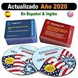 Ciudadania Americana 2020 ( 2 CD + 100 Flash Cards )- ESPAOL & INGLES | US Citizenship Test Study Guide 2020, SPANISH & ENGLISH - 100 Official USCIS Questions & Answers