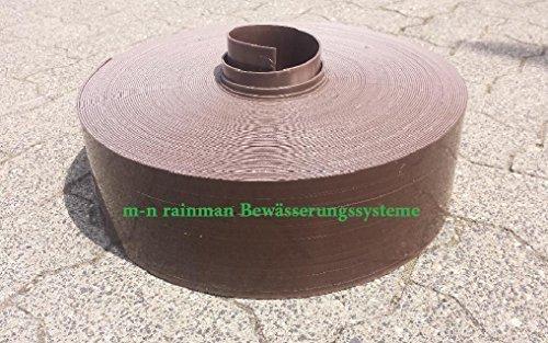 Bordure de pelouse marron-épaisseur : 1 mm-hauteur : 12 cm-qualité professionnelle (pas en acier) 50 Meter