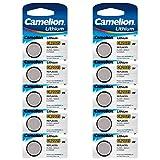 Camelion 10-er Pack Lithium Knopfzelle 3 V...