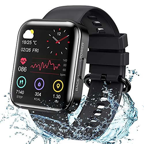 KOSPET Magic 3 Smartwatch,1.71 inch 3D Curved Full Touch Screen Smartwatch 20 Sports Modes Real Blood Oxygen Blood Pressure Test,Heart Rate and Sleep Monitoring IP68 Waterproof Bluetooth 5.0